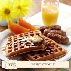 Mix up the batter for these Overnight Waffles today, and wake up your family tomorrow with the aroma of fresh-baked goodness