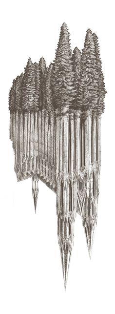Gothic Revival by Evan Wakelin. Love the gothic yet earthy feel! Sad Sketches, Drawing Sketches, Art Drawings, Drawing Ideas, Illustrations, Illustration Art, Architecture Drawings, Vernacular Architecture, Tatoo Art