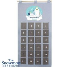 Personalised Silver Grey Advent Calendar - The Snowman & Snowdog Christmas Countdown, Christmas And New Year, Merry Christmas, Felt Advent Calendar, Advent Calendars, Snowman And The Snowdog, Stemless Champagne Flutes, Christmas Table Settings, New Years Party