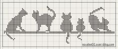 loveable cats #charted design #needlework #knitting