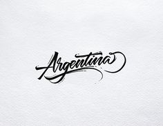 Lettering Set Countries on Behance