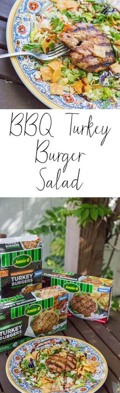 BBQ Turkey Burger Salad - Take a bite out of summer! This lean & clean salad tastes like summer on a plate. Burger Salad, Bbq Turkey, Skinny Inspiration, Healthy Weeknight Dinners, Sweet Tea, Southern Recipes, Main Dishes, Healthy Eating, Plate