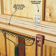 how to wire a garage unfinished studs an and garage rh pinterest com Garage Wiring Basics Garage Wiring Code Within