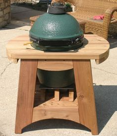 Here Is My New Custom Constructed BGE Nest. I Had A Table But I Moved And  My New BBQ Area Is Much Smaller So An Appropiate Sized BGE Housing Was In  Order.
