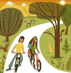 Brian Wilson and sister duo 'American Spring' biking in the Californian hills. Dennis Wilson, Surfs Up, Spirit Halloween, Disney Characters, Fictional Characters, Art Prints, Disney Princess, American, Spring