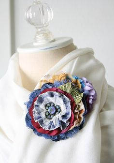 The perfect accessory to jazz up a cozy winter scarf or jacket! Rosy Posy Designs.