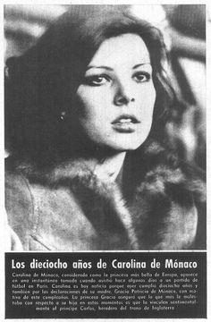 Princess Caroline of Monaco.1975.