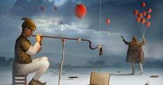 O Ensaio do Flautista (The Assay Flutist) Canvas Print by Marcel Caram Canvas Artwork Canvas Artwork, Canvas Frame, Canvas Art Prints, Canvas Size, Marcel, Rene Magritte, Wassily Kandinsky, Illustrations, Surreal Art