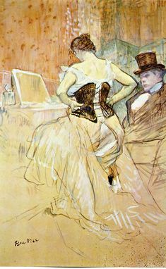 Woman in corset to Henri de Toulouse-Lautrec we manufacture for you on watercolor paper, canvas or poster paper. Henri De Toulouse-lautrec, Edouard Manet, Pierre Auguste Renoir, Art Moderne, Art Challenge, French Art, Famous Artists, Art History, Painting & Drawing