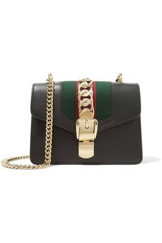 Gucci Sylvia mini chain embellished leather shoulder bag