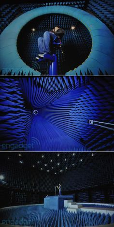 one of anechoic chambers in which Apple tests their phone prototypes