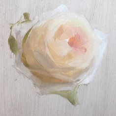 #blockin of an O'Hara rose. I love this stage of painting. So much possibility! I also love O'Hara roses, for their beauty and their name 😊 💃🏻#katiescarlett
