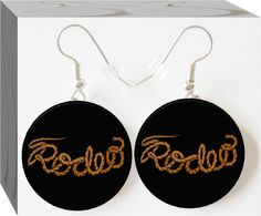 Rodeo Button Charm Earrings
