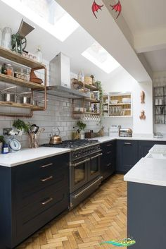 3 House Decoration Archives   Homedweb -  Real home: an open kitchen extension with industrial accents #akzenten #industriellen #kuchenerweit - #archives #decoration #HomeInteriorDesign #homedweb #house #InteriorDesign #ModernHomeDesign<br> Modern Kitchen Design, Interior Design Kitchen, Diy Interior, Kitchen Designs, Interior Modern, Copper Interior, Traditional Interior, Interior Decorating, Masculine Interior