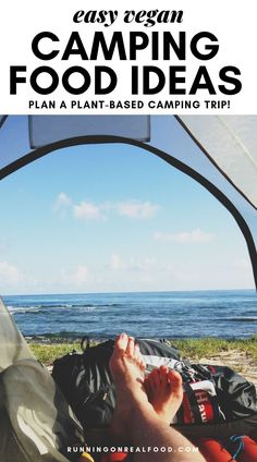 Use these vegan camping food ideas to plan a plant-based camping trip. It's easier than you think and no need to worry about storing meat, eggs or dairy! Camping Menu, Kayak Camping, Camping Hacks, Camping Hammock, Campsite, Vegan Finger Foods, Backpacking Food, Camping Food Vegan, Camping Foods