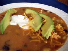 Every Tuesday night is taco night at my house. Getting tired of tacos so I came up with this soup! Putting together my favorite tortilla soup ( Max and Erma's) and my own soup I usually do. Hope you enjoy as much as we do!