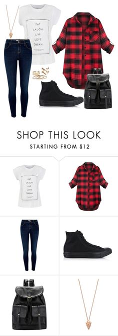 """Untitled #2"" by scarlettnoel03 ❤ liked on Polyvore featuring River Island, Converse and Pamela Love"