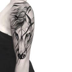 Tattoos And Body Art horse tattoo Unicorn Tattoos, Feather Tattoos, Body Art Tattoos, New Tattoos, Small Tattoos, Tattoos For Guys, Celtic Tattoos, Tatoos, Horse Tattoo Design