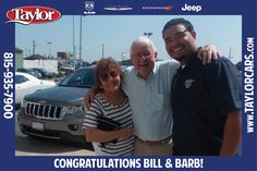 Bill and Barb bought their Jeep Grand Cherokee from Aaron last summer and they absolutely love it!
