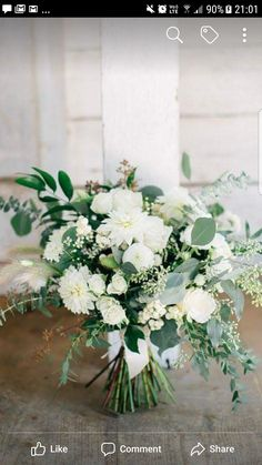 Inspiration for bridesmaids' bouquets. Like the wildflower look - Inspiration for bridesmaids' bouquets. Like the wildflower look - White Wedding Flowers, Flower Bouquet Wedding, Floral Wedding, Fall Wedding, Wedding Colors, Our Wedding, Dream Wedding, Flower Centerpieces, Flower Decorations