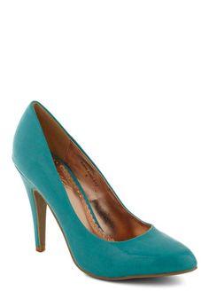 Classic Heel in Turquoise