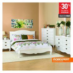 Confortul, funcționalitatea și bunul gust fac casă bună în dormitor. #pat #dormitor #mobexpert