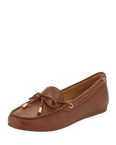 """Slip-on style. """"Sutton"""" is imported. Leather Moccasins, Leather Shoes, Napa Leather, Michael Kors Shoes, Giuseppe Zanotti, Neiman Marcus, Luxury Fashion, Loafers, Slip On"""