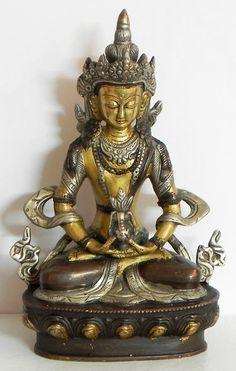 Amitayush - Buddha of Long Life (Brass))