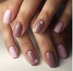 Old rose and thistle colored winter nail art design. These shades of pink blend perfectly together and hey give out a warm feel for the nails, perfect for the chilly winter season ahead.