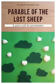 Teach your children about Jesus' love for us with this great parable of the lost sheep craft. Fun for toddlers and preschoolers. #preschoolcraft #lostsheepcraft #biblecraft Sunday School Activities, Bible Activities, Indoor Activities For Kids, Toddler Activities, Easy Toddler Crafts, Toddler Preschool, Preschool Activities, The Lost Sheep, Sheep Crafts