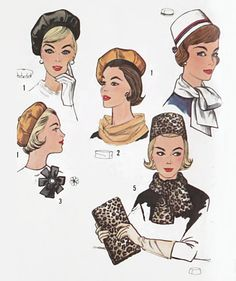 Vintage Simplicity 4178 Sewing Pattern for Jackie O Style Pillbox Hat, Beret, Scarf, Clutch Bag and Rosette at Eight Mile Vintage on Etsy