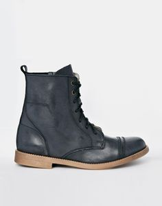 Park Lane Leather Lace Up Boots