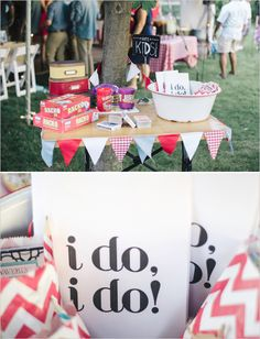 Ideas for the kids at the wedding!  http://www.weddingchicks.com/2013/11/08/handcrafted-wedding/