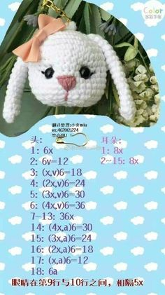 Best 12 Inspiration – the link doesn't show this image unless it's WAY down the page.Com - Her Crochet Kawaii Crochet, Crochet Disney, Crochet Amigurumi Free Patterns, Crochet Motif, Crochet Crafts, Crochet Toys, Diy Crafts, Easter Bunny Crochet Pattern, Crochet Hair Clips