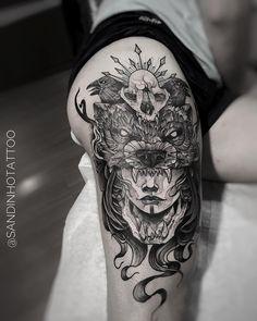 Tatuagem feita por Sandinho de Minas Gerais.  India em blackwork.  #tattoo #tatuagem #arte #art #design #tattoo2me #blackwork