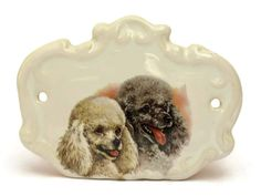Vintage French Poodle Print on White Ceramic by LeBonheurDuJour
