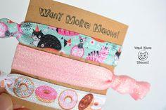 Cat hair ties Cat hair accessories Stocking stuffer Cat