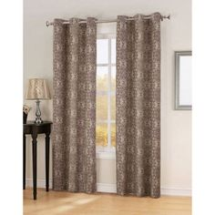 Sun Zero Avalon Thermal Lined Curtain Panel, Red