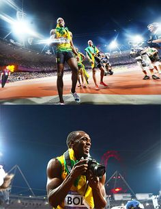 Ever wonder what it's like to be the world's fastest man winning a gold medal at the Olympics? Usain Bolt wants you to know.After sprinting to victory in the 200m race today, Bolt proceeded to run...