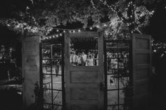 Old skeleton key doors and vintage French doors used for the altar area at a Pageo Lavender Farm wedding - rent this and many more items from American Vintage Rentals Photo by: http://www.bethanycarlson.com/archives/13860