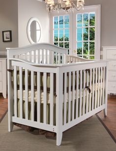 Love this white crib!