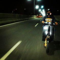 all night ride. VESPA special