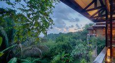 View from the balcony @ Tikivillas Rainforest Lodge, Costa Rica