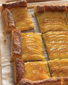 Apple Tart....uses frozen puff pastry, Granny Smith apples, applesauce, apricot preserves