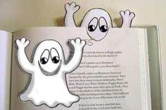 Punto de libro fantasma. Manualidad halloween