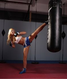 Kickboxer Women Kickboxing | Combining both punching and kicking skills - this cardio based ...
