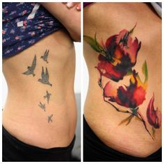 When doing a cover up artists have the challenge of incorporating a previous design into something new and inventive.