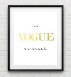 In Vogue We Trust. Amén ;-)