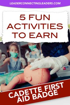 5 Fun Activities To Earn The Cadette First Aid Badge. If your looking for ideas to make your meeting Scout Mom, Girl Scout Swap, Girl Scout Leader, Girl Scout Troop, Boy Scouts, Daisy Scouts, Girl Scout Activities, Primary Activities, Activities For Girls