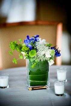 Table center-pieces for a summer wedding
